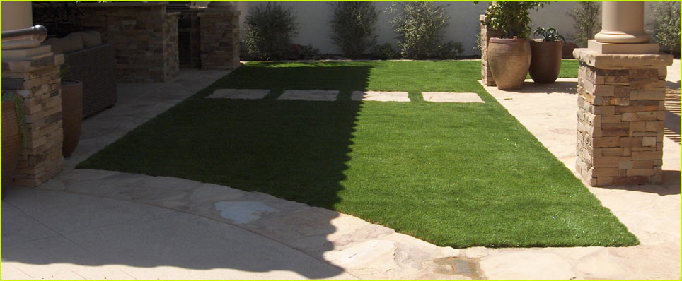 artificial turf installation setup